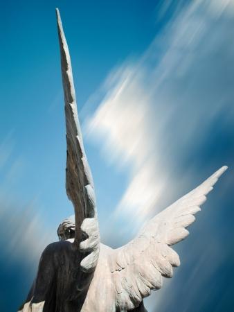 захоронение: крылья ангела