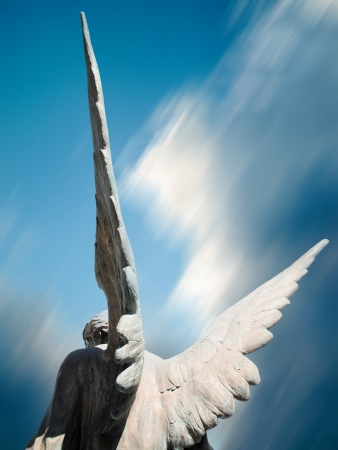 angel statue: angel wings Stock Photo