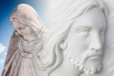 Jesucristo y la virgen Mar�a
