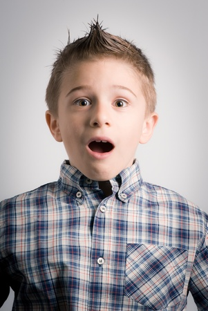 boy expression amazed Stock Photo - 13180126