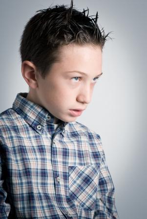 autism: alienated boy Stock Photo