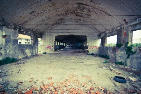 abandoned industrial building photo