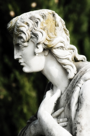 weeping angel: angel statue