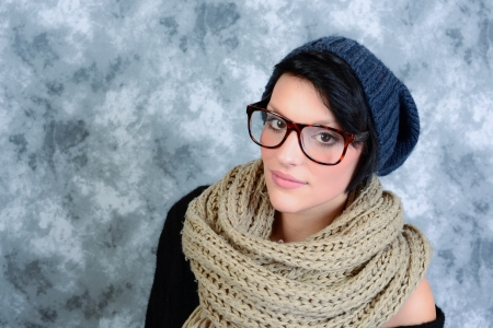 pleasantness: girl with glasses