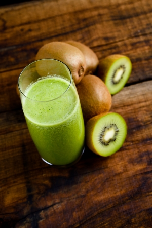 green kiwi juice Stock Photo