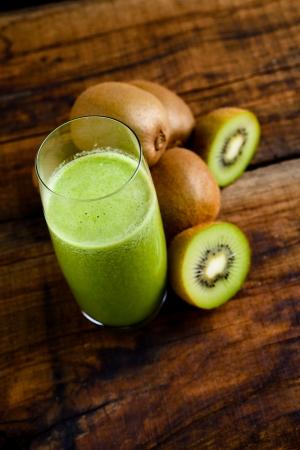 green kiwi juice Stock Photo