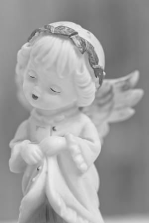 angel de la guarda: poco �ngel de la guarda Foto de archivo