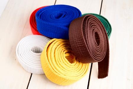 artes marciales: cinturones de karate