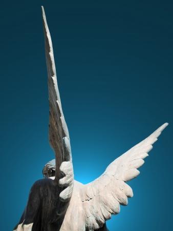 守護天使的翅膀 版權商用圖片 - 17977095