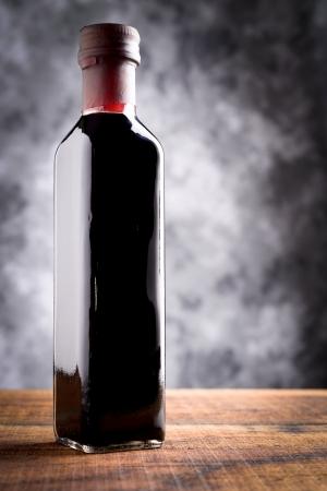 balsamic: bottle of balsamic vinegar Stock Photo