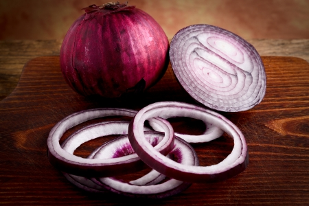onion rings: red onions