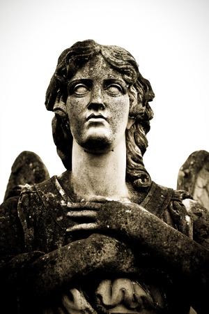 weeping angel: guardian angel face