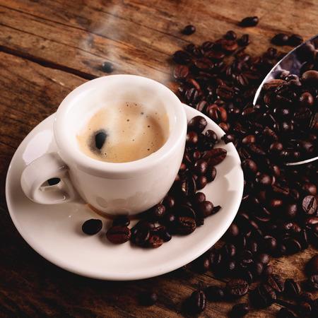 熱特濃咖啡 版權商用圖片