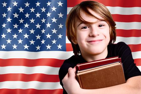 inglese flag: l'apprendimento della lingua inglese in USA Archivio Fotografico