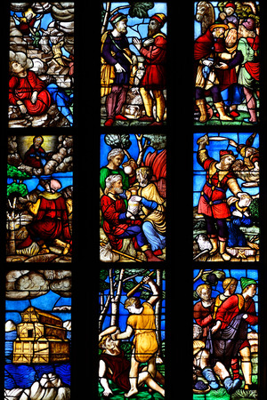 old testament: glass window old testament - Duomo Milan