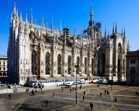 Duomo Milan renovation construction