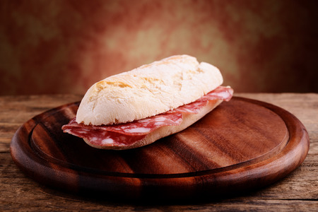 sandwitch: french bread sandwitch with salami