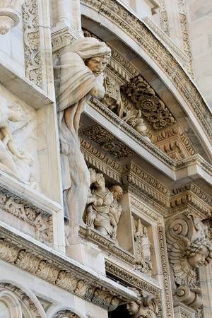 Duomo cathedral of Milan - facade detail photo