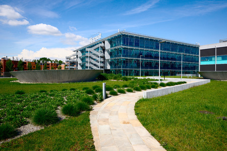意大利米蘭,2014年4月29日微軟意大利公司總部佩斯基耶拉鮑羅麥歐