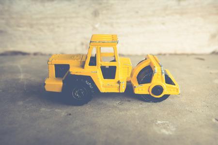 steamroller: vintage little steamroller for child games Stock Photo