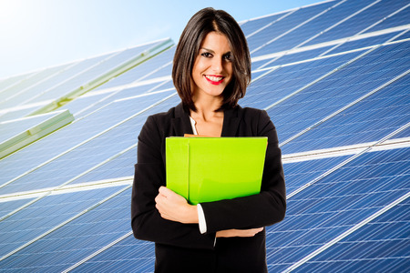 green energy resources: solar energy business Stock Photo