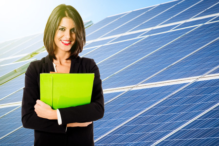 engineer's: solar energy business Stock Photo