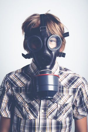 educacion ambiental: la contaminación del aire Foto de archivo