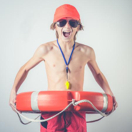 年輕的救生員