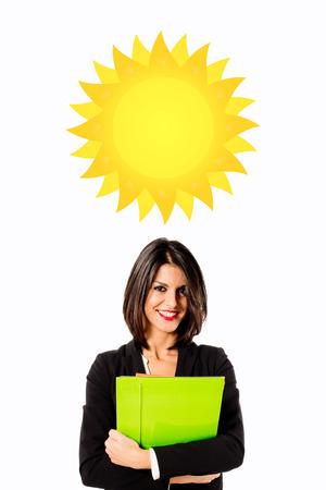 sunny day: Mujer de negocios ejecutiva d�a soleado