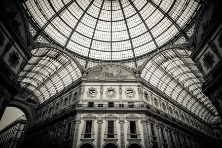 vittorio emanuele: Dome of Galleria Vittorio Emanuele II, Milan Italy