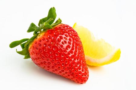 strawberry and lemon Zdjęcie Seryjne