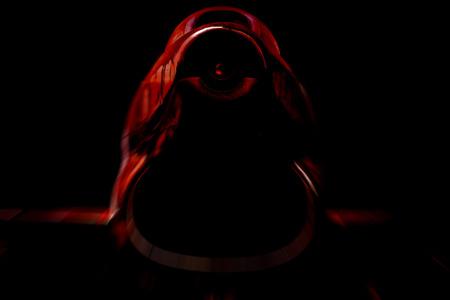 frightening: war machine  blurred style photo