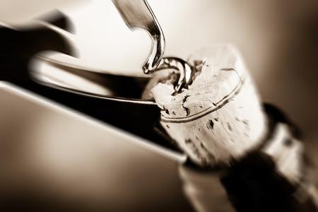 uncork: Aged fine wine blurred style photo