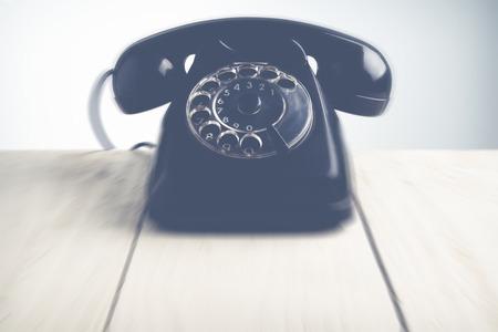 waiting phone call: Call us blurred style photo Stock Photo