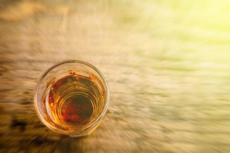 alcoholic beverage: Alcoholic beverage blurred style photo Stock Photo