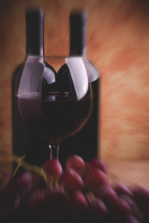 uncork: wine tasting  blurred style photo