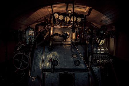 locomotora: Capacitar a la sala de control de locomotoras Foto de archivo