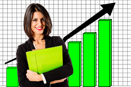 outcomes: business growth Stock Photo