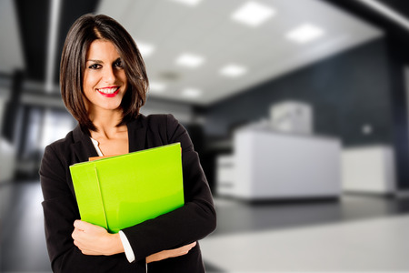 manager office: business woman in office Stock Photo