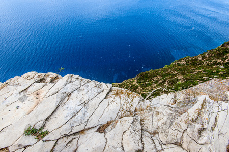 viewpoint: stunning viewpoint from coastal cliff of Cassis Provence France