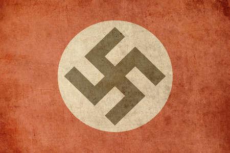 nazi: nazi flag retro grunge background