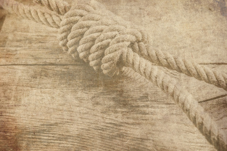 noose: hemp rope noose knot retro old background