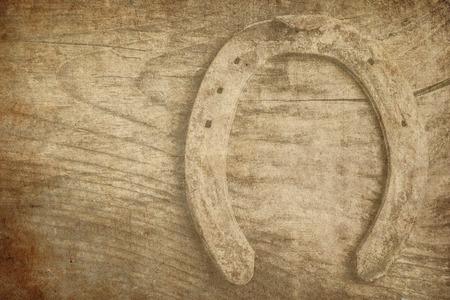superstitions: horse shoe retro background
