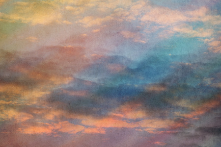 cover background time: multicolored sky retro grunge background