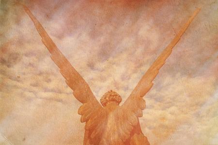 guardian angel: ángel de la guarda retro grunge fondo Foto de archivo