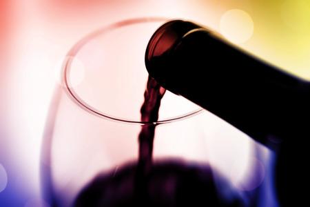 祝う: ワインで祝う 写真素材