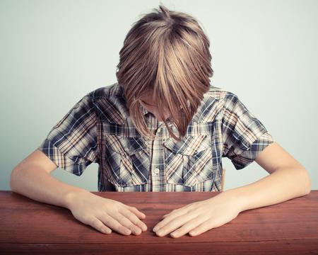 shame: shame little boy Stock Photo