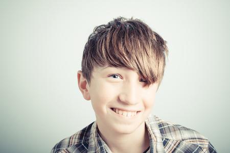 schoolboy: smiling schoolboy