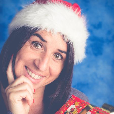 smiling mom for christmas time photo