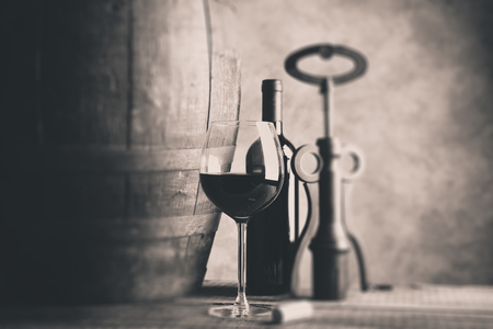 fine wine - tilt shift selective focus effect photo